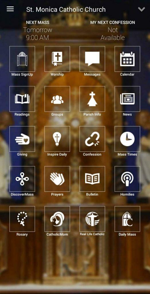my Parish app screenshot
